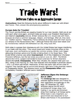 Embargo Act, Non-Intercourse Act, & Macon's Bill No. 2 / Jefferson's Trade War!
