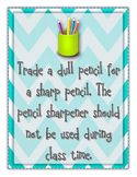 Trade a Dull Pencil for Sharp Poster