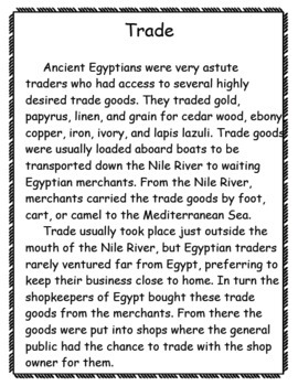 Trade in Ancient Egypt Pack