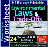 Trade-offs & Environmental Regulations - Living Environment Regents Biology