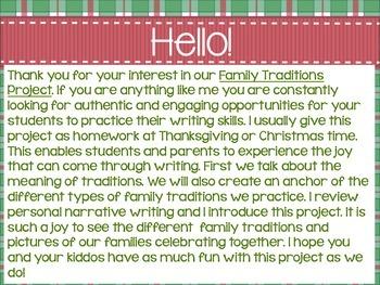 ¡Tradiciones Familiares!