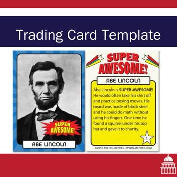 Trading card template by not another history teacher tpt for Baseball card template microsoft word