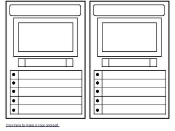 Trading Card Template Pdf Or Google Drawing