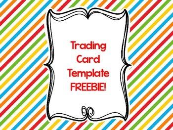 Trading Card Template FREEBIE