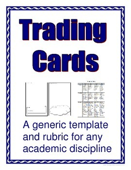 Trading Card Template - Multi-Purpose (Rubric Included)