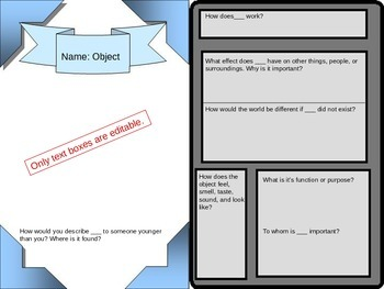 Trading Card Template: Object