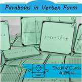 Trading Cards: Equation of Parabolas in Vertex Form