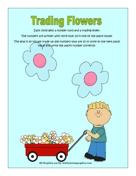 Trading Flowers(Place Value Game)