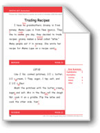 Trading Recipes (Gr. 2/Week 22)