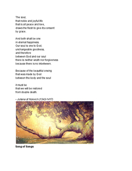 Traditional / Ancient Poetry Selections - Spiritual - With 6 assignments