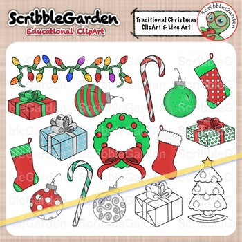 Traditional Christmas Holiday ClipArt