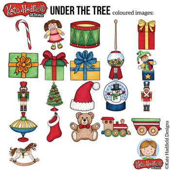 "Traditional Christmas Clip Art: ""Under The Tree"""