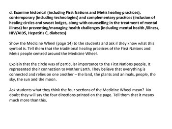 Traditional First Nations, Metis and Western Medicine