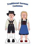 Traditional German Paper Doll Outfits
