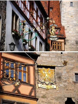 Traditional German Shop Sign Photos - Rothenburg (Personal and Commercial Use)