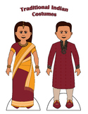 Traditional Indian Paper Doll Outfits