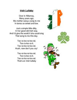 Traditional Irish Lullaby Poem
