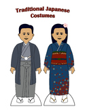 Traditional Japanese Paper Doll Outfits