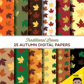 Traditional Leaves Autumn Digital Papers