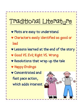 Traditional Literature Anchor Chart