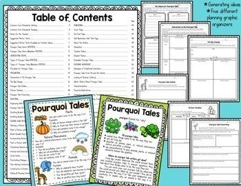 Traditional Literature Bundle: Pourquoi Tales & Fables