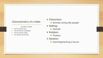 Traditional Literature Powerpoint