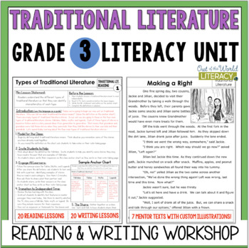 Traditional Literature Reading & Writing Unit Grade 3: 40 Lessons with CCSS