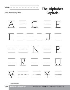 Traditional Manuscript Alphabet
