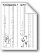 Traditional Manuscript: Vehicle Alphabet A-F (Week 33)