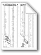 Traditional Manuscript: Vehicle Alphabet G-L (Week 34)