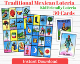 Traditional Mexican Loteria Kid Friendly 30 Cards