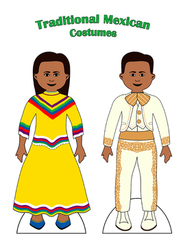 Traditional Mexican Paper Doll Outfits