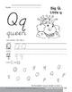 Traditional/Modern Manuscript Writing: Qq