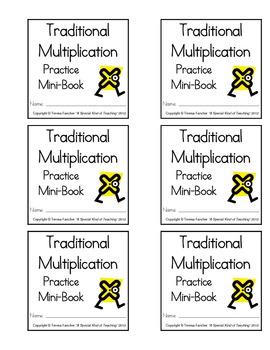 Traditional Multiplication Practice Mini-Book