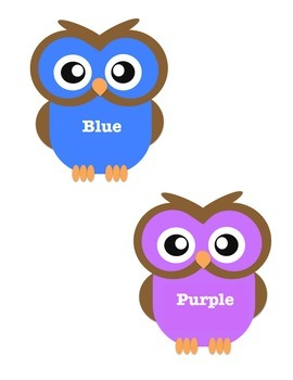 Traditional Owl Color Poster & Die Cuts