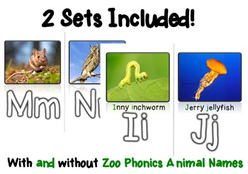 Traditional Photo Alphabet Posters aligned with ZooPhonics