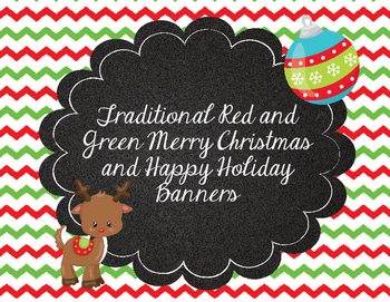 Traditional Red and Green Printable Christmas and Happy Ho