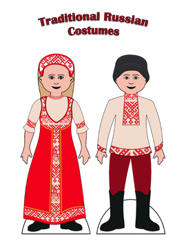 Traditional Russian Paper Doll Outfits