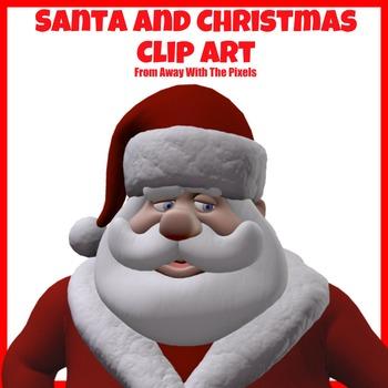 Traditional Santa / Father Christmas Clip Art -  Clipart for Teachers