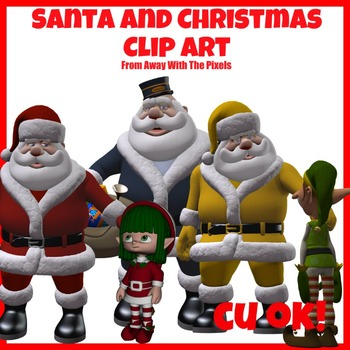 Traditional Santa / Father Christmas Clip Art -  Clipart for Teachers