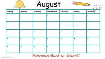 Traditional School Calendars Templates