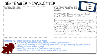 Traditional School Newsletters Templates