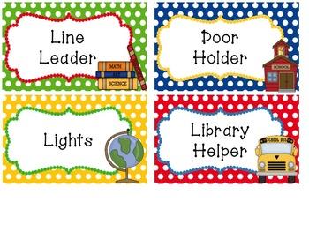 Traditional School Theme Classroom Basics Decor