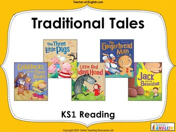 Traditional Stories teaching resource - Powerpoint and worksheets
