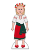 Traditional Ukrainian Paper Doll Outfits