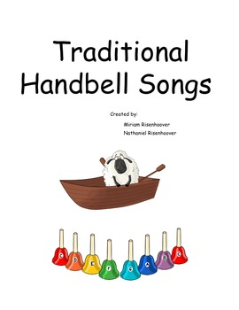 Traditional handbell songbook for 8 note colored handbells