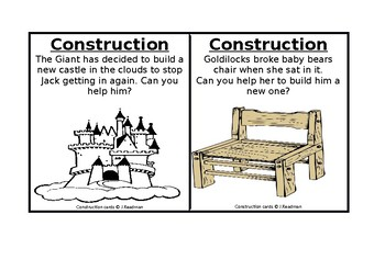 Traditional tales Construction area cards