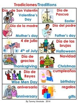 Traditions Bilingual Poster