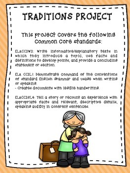 Traditions Informational Writing Project