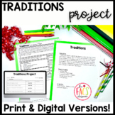 Family Traditions Project Print and Google Drive Ready